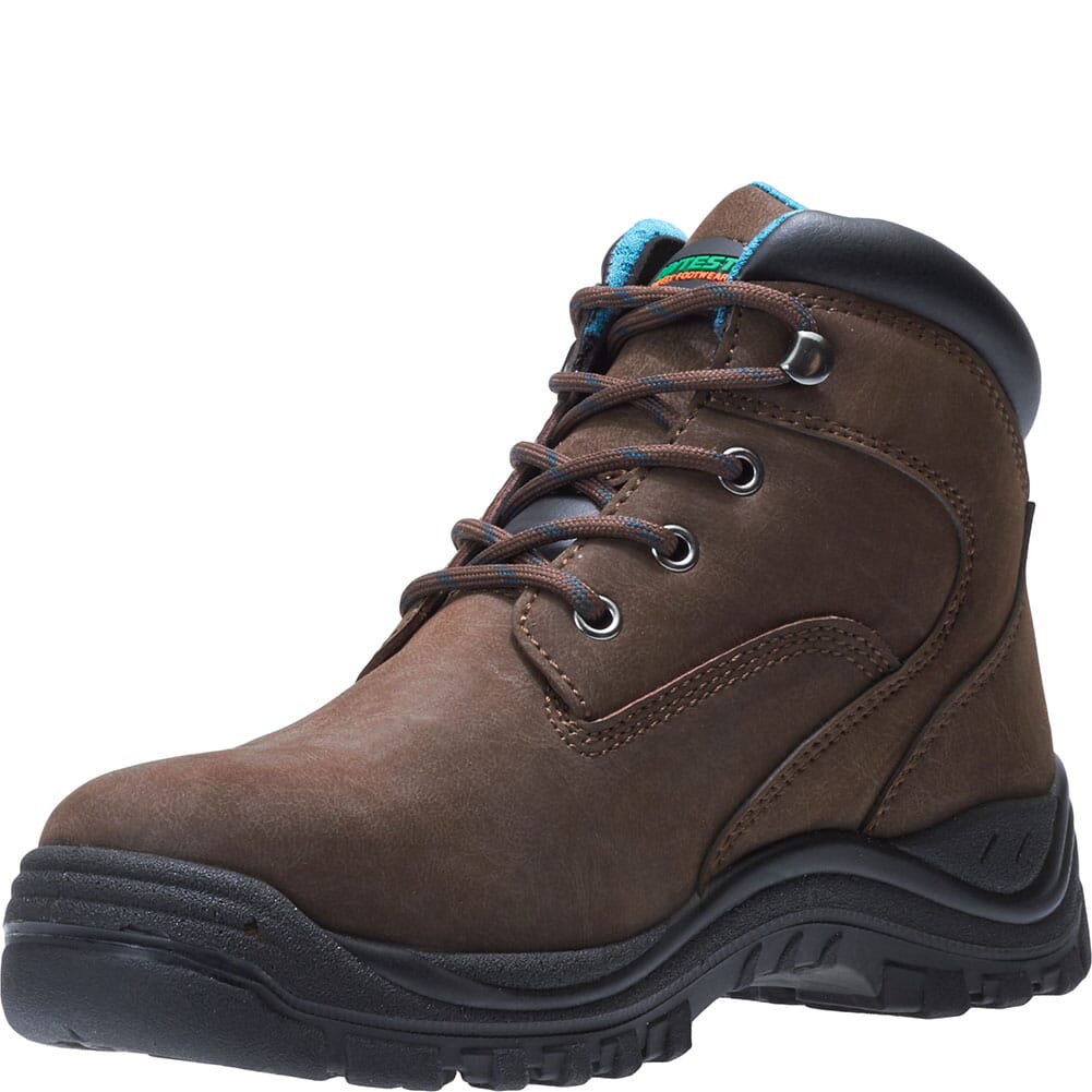 Hytest Women's Lithium Safety Boots - Brown