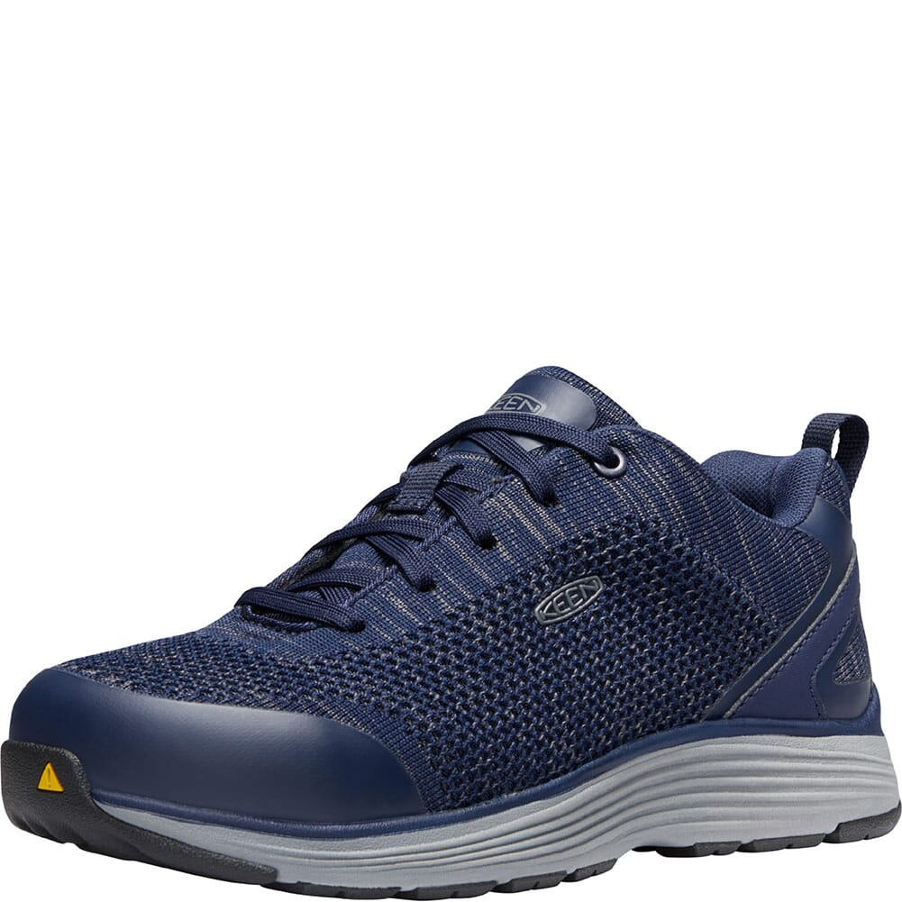 1023213 KEEN Utility Women's Sparta Safety Shoes - Mood Indigo/Steel Grey