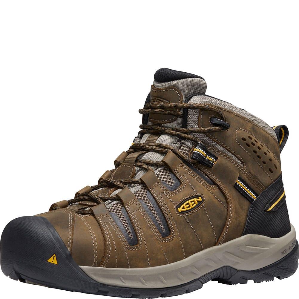 1023228 KEEN Utility Men's Flint II Safety Boots - Cascade Brown/Golden Rod