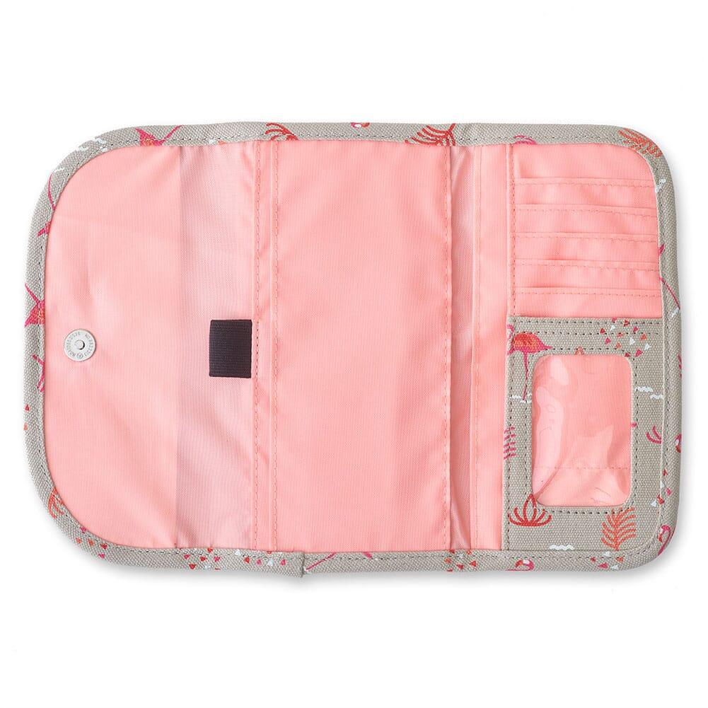 965-1182 Kavu Women's Big Spender Tri-Fold Wallet - Chillin Flamingo