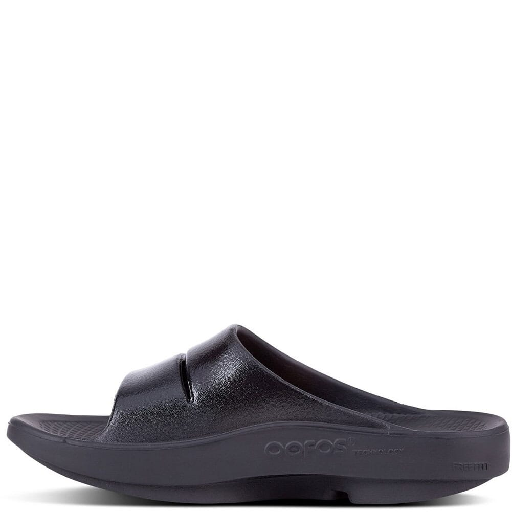 OOFOS Women's OOAHH Luxe Slide - Black