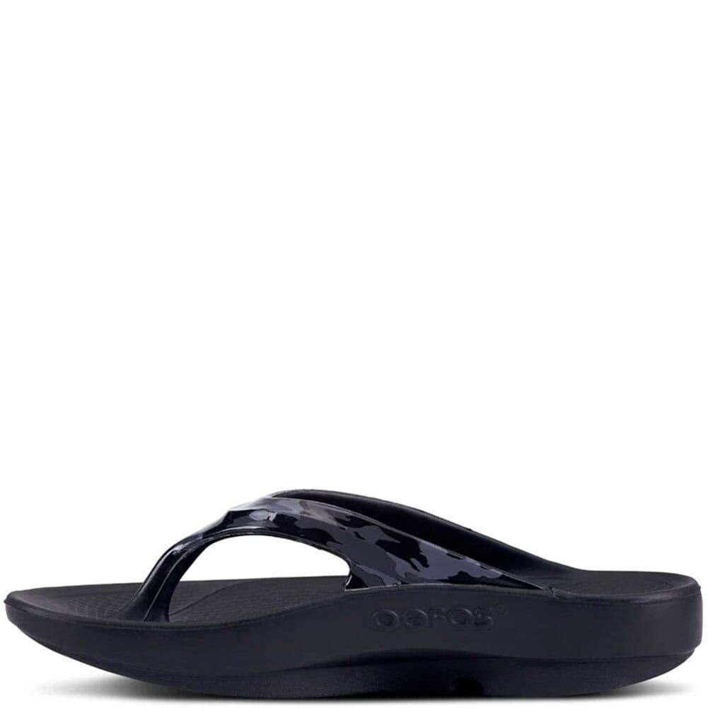 1403-BLKGYCM OOFOS Women's OOlala Limited Sandals - Black/Grey Camo