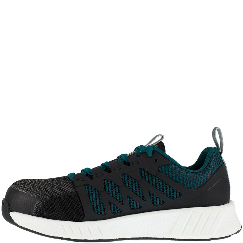RB314 Reebok Women's Fusion Flexweave Safety Shoes - Black/Teal