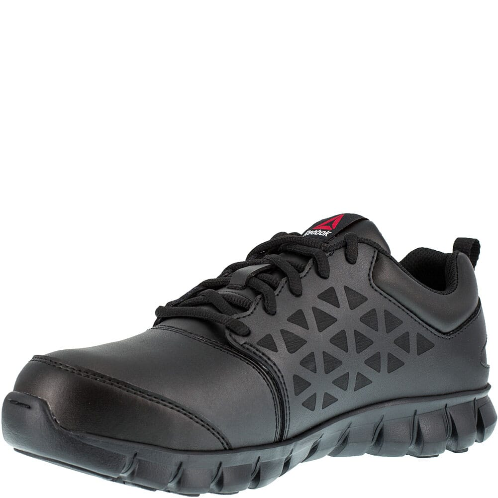 Reebok Women's Sublite Metatarsal Guard Safety Slip On - Black