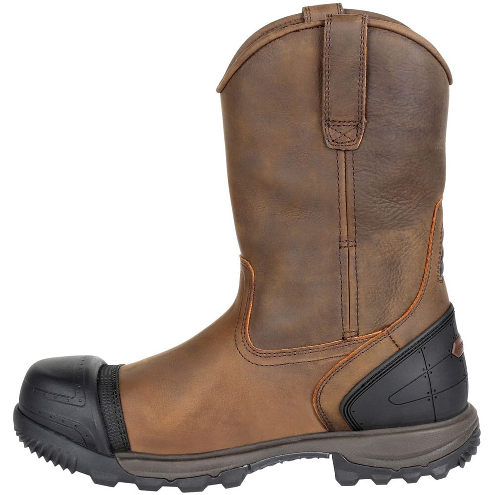 Rocky Men's XO-TOE WP Pull-On Safety Boots - Brown
