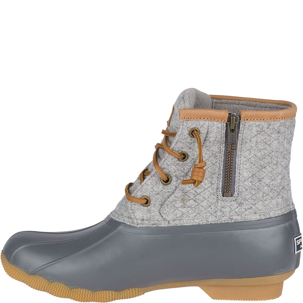 Sperry Women's Saltwater Wool Embossed Duck Boots - Grey