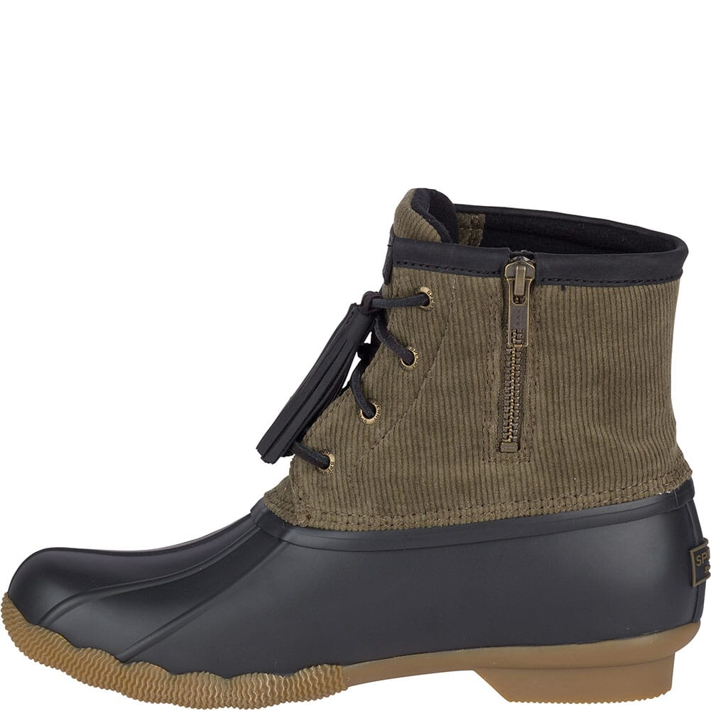Sperry Women's Saltwater Tassel Corduroy Duck Boots - Olive