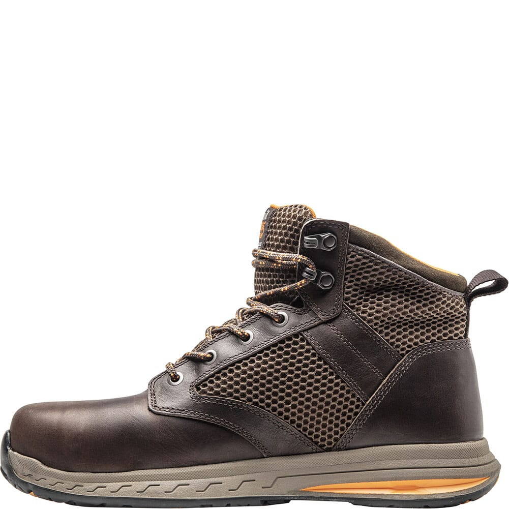 A1X16214 Timberland Pro Men's Drivetrain Mid Safety Boots - Dark Brown