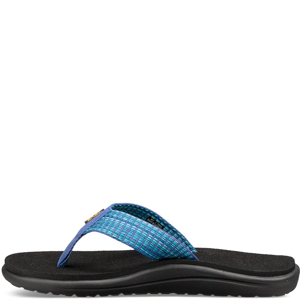 Teva Women's Voya Flip Flop - Bar Street Multi Blue
