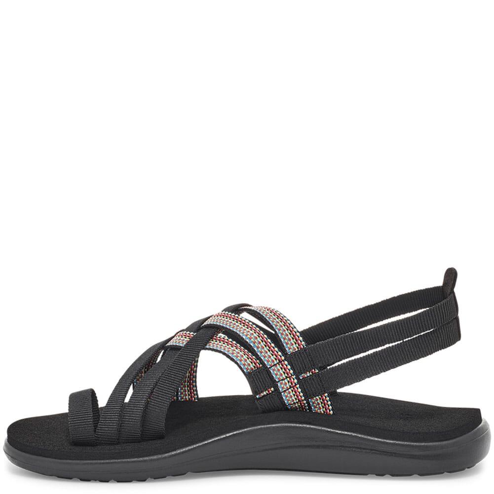 1099271-ABML Teva Women's Voya Strappy Sandals - Antiguous Black
