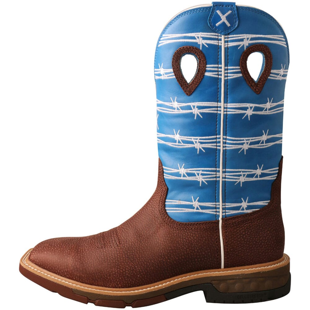 MXB0001 Twisted X Men's CellStretch Work Boots - Burgundy/Sky Blue