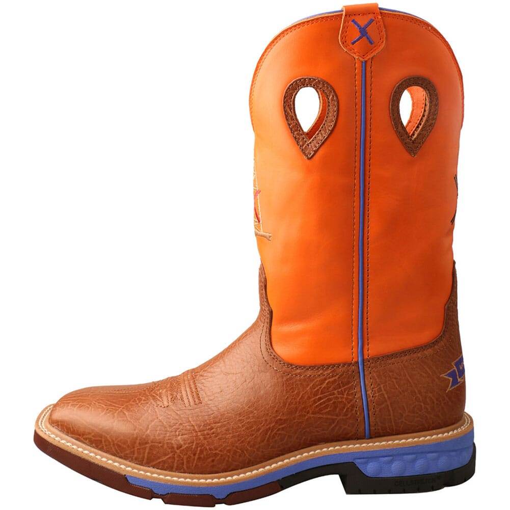 MXBA003 Twisted X Men's CellStretch Safety Boots - Tan/Orange