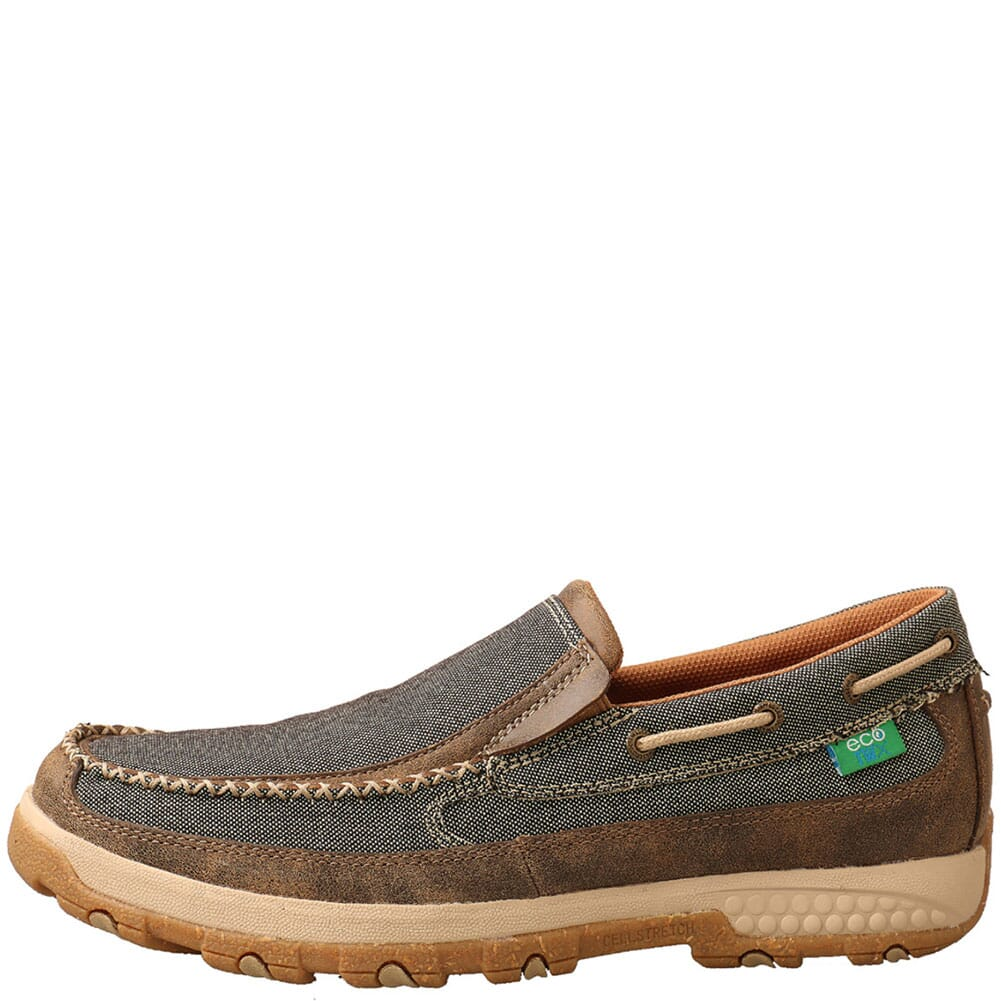 MXC0007 Twisted X Men's CellStretch Driving Moc Slip On Shoes - Eco
