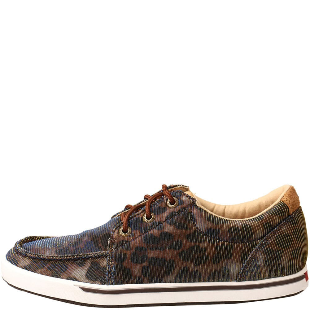 WCA0023 Twisted X Women's Kicks Casual Shoes - Shiny Leopard/Brown