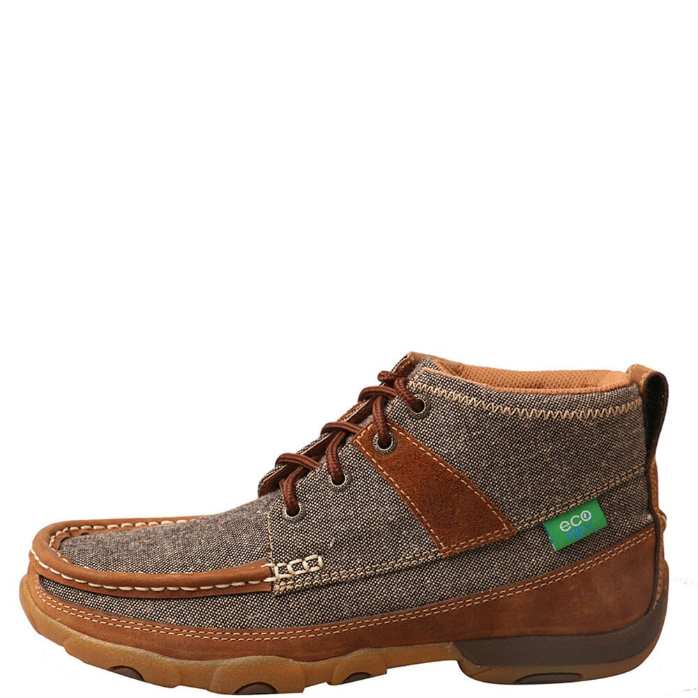 WDM0094 Twisted X Women's Driving Moc Casual Chukka - Dust/Brown