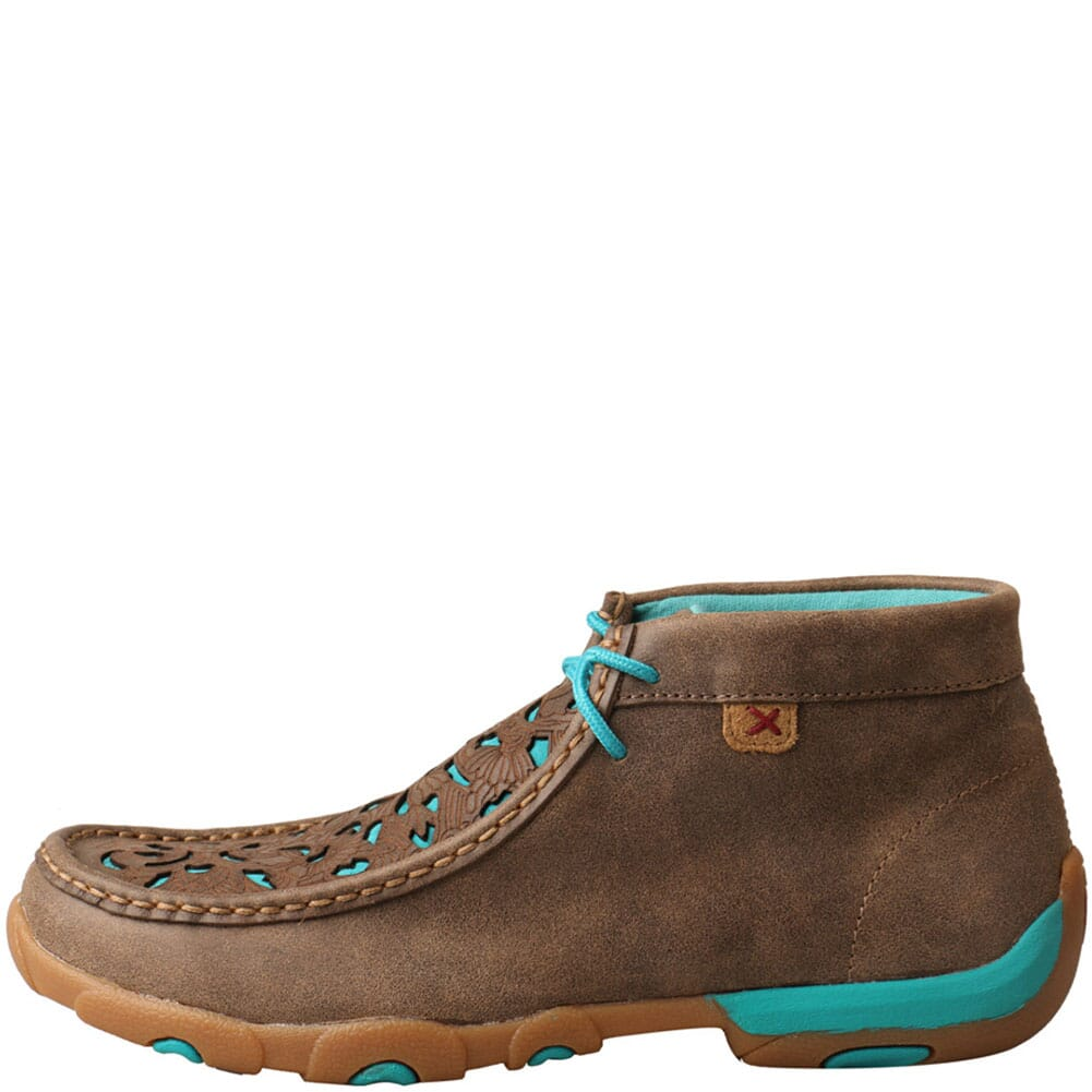 WDM0126 Twisted X Women's Driving Moc Chukka - Bomber/Teal