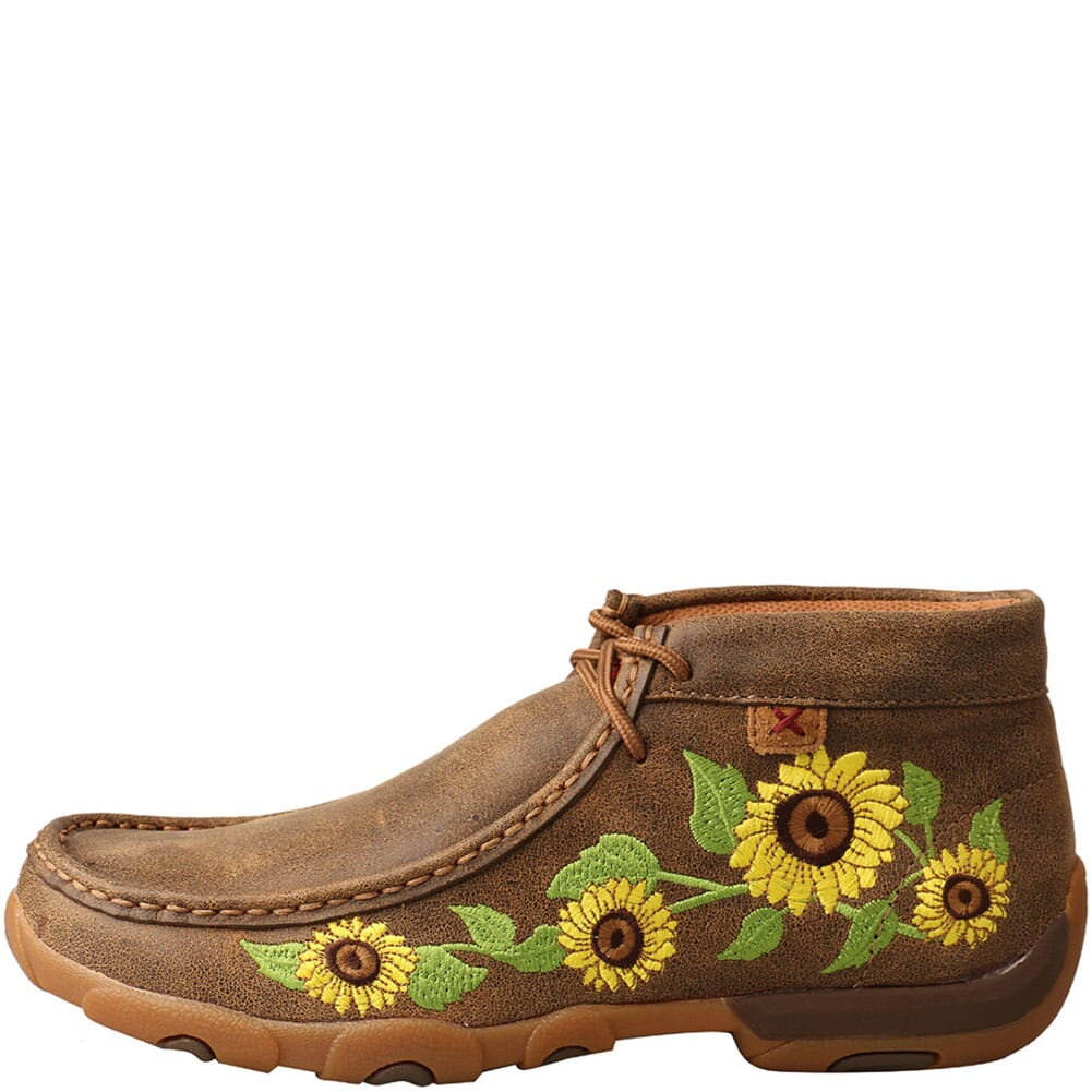 WDM0128 Twisted X Women's Driving Moc Chukka - Bomber/Sunflower
