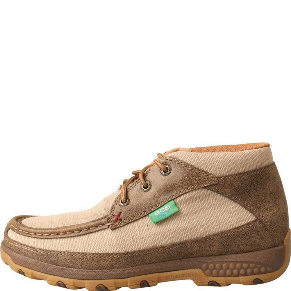 WXC0002 Twisted X Women's Driving Moc CellStretch Casual Chukka - Khaki/Bomber