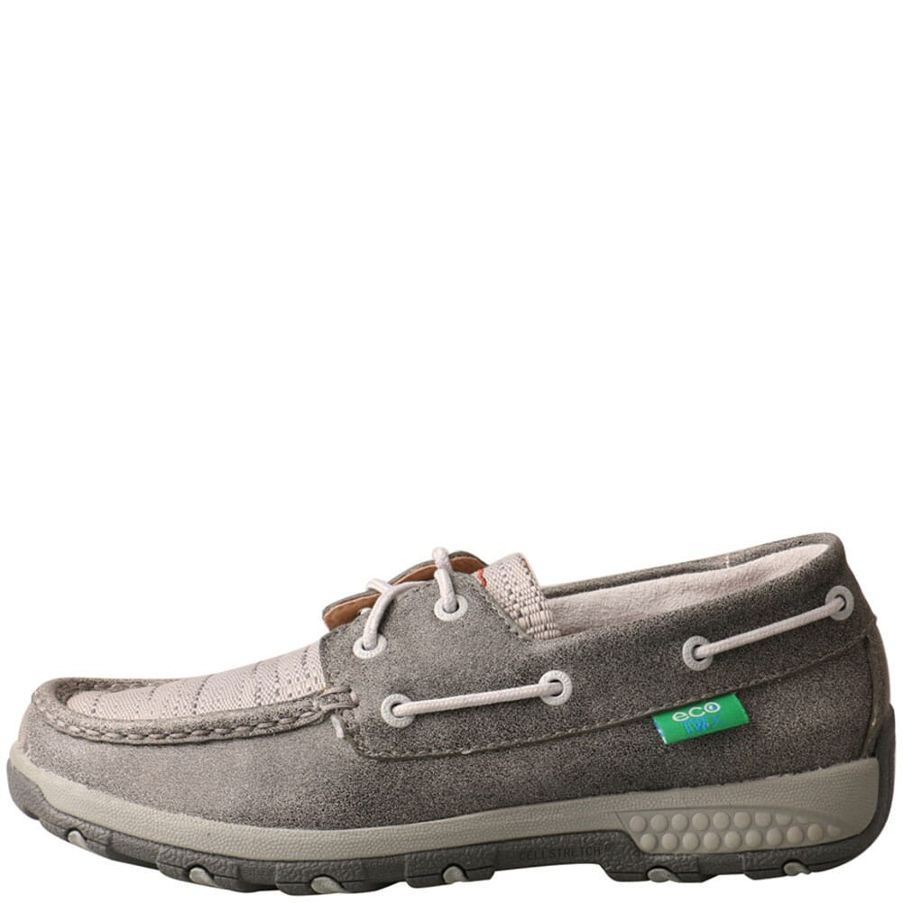 WXC0007 Twisted X Women's Driving Moc Boat Shoes - Grey/Light Grey