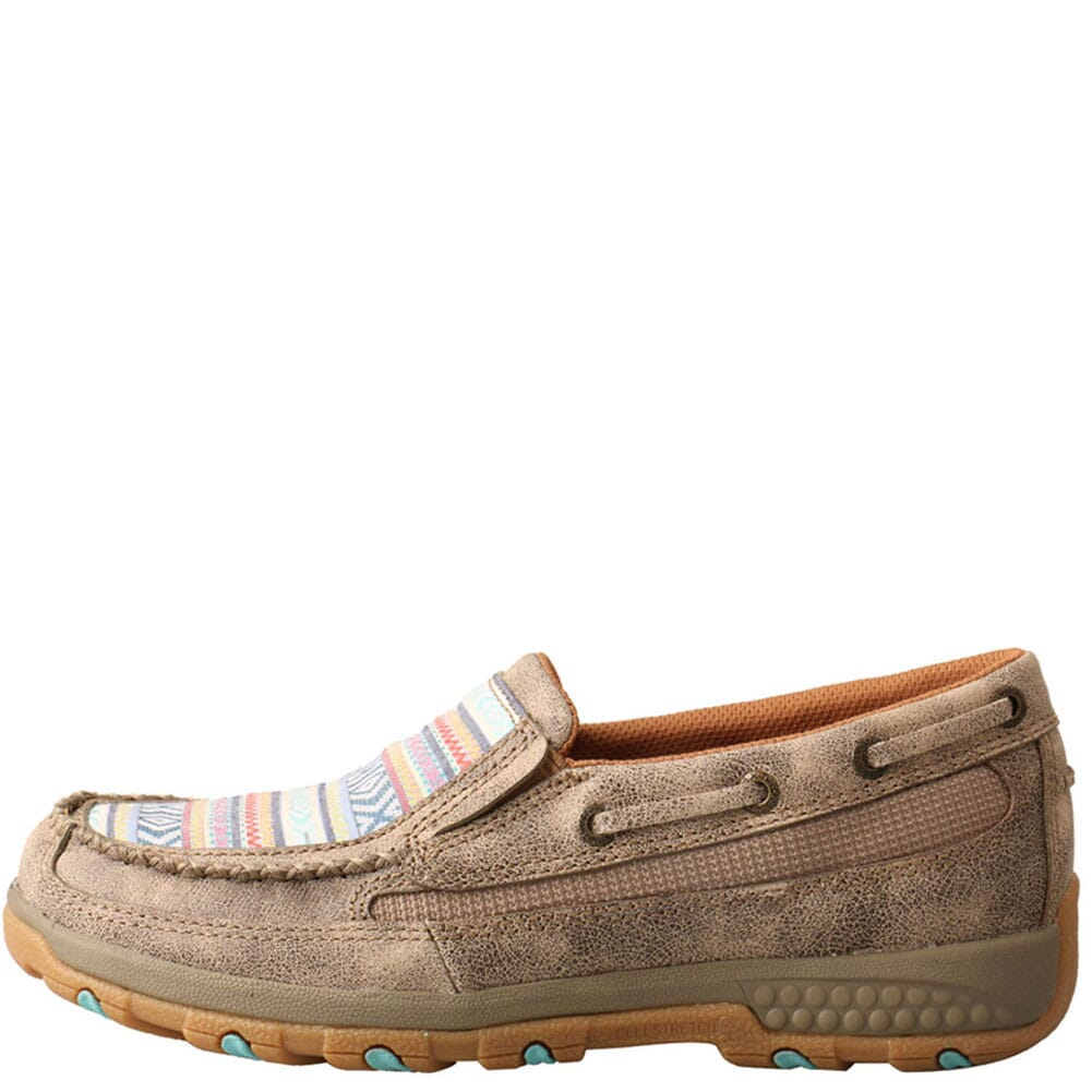 WXC0008 Twisted X Women's Driving Moc CellStretch Casual Boat Shoes - Dusty Tan/