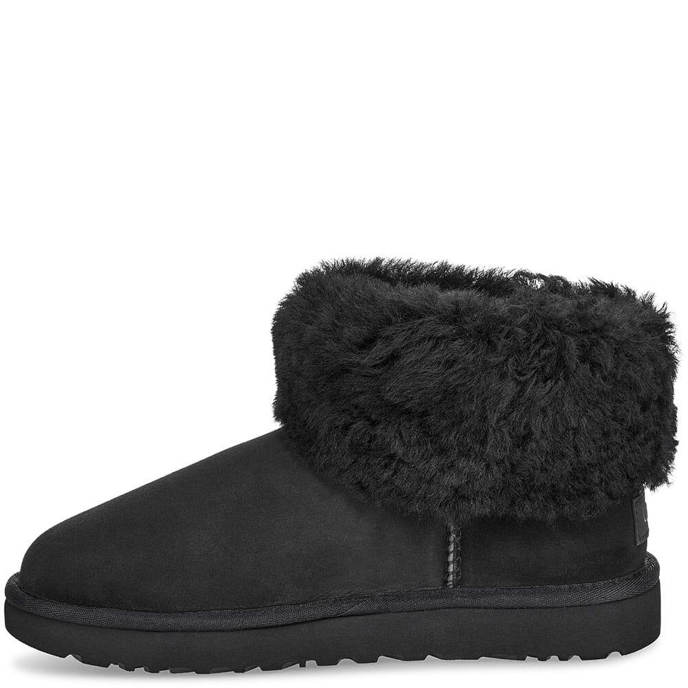 UGG Women's Classic Mini Fluff Casual Boots - Black