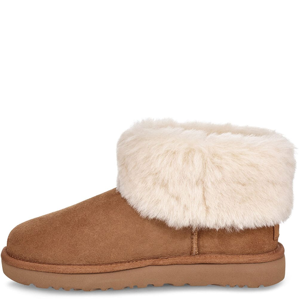 UGG Women's Classic Mini Fluff Casual Boots - Chestnut