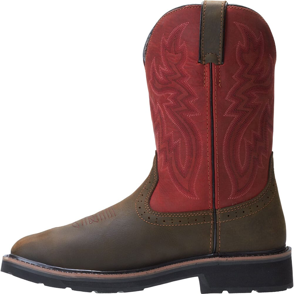 Wolverine Men's Rancher Met Guard Safety Boots - Brown/Red