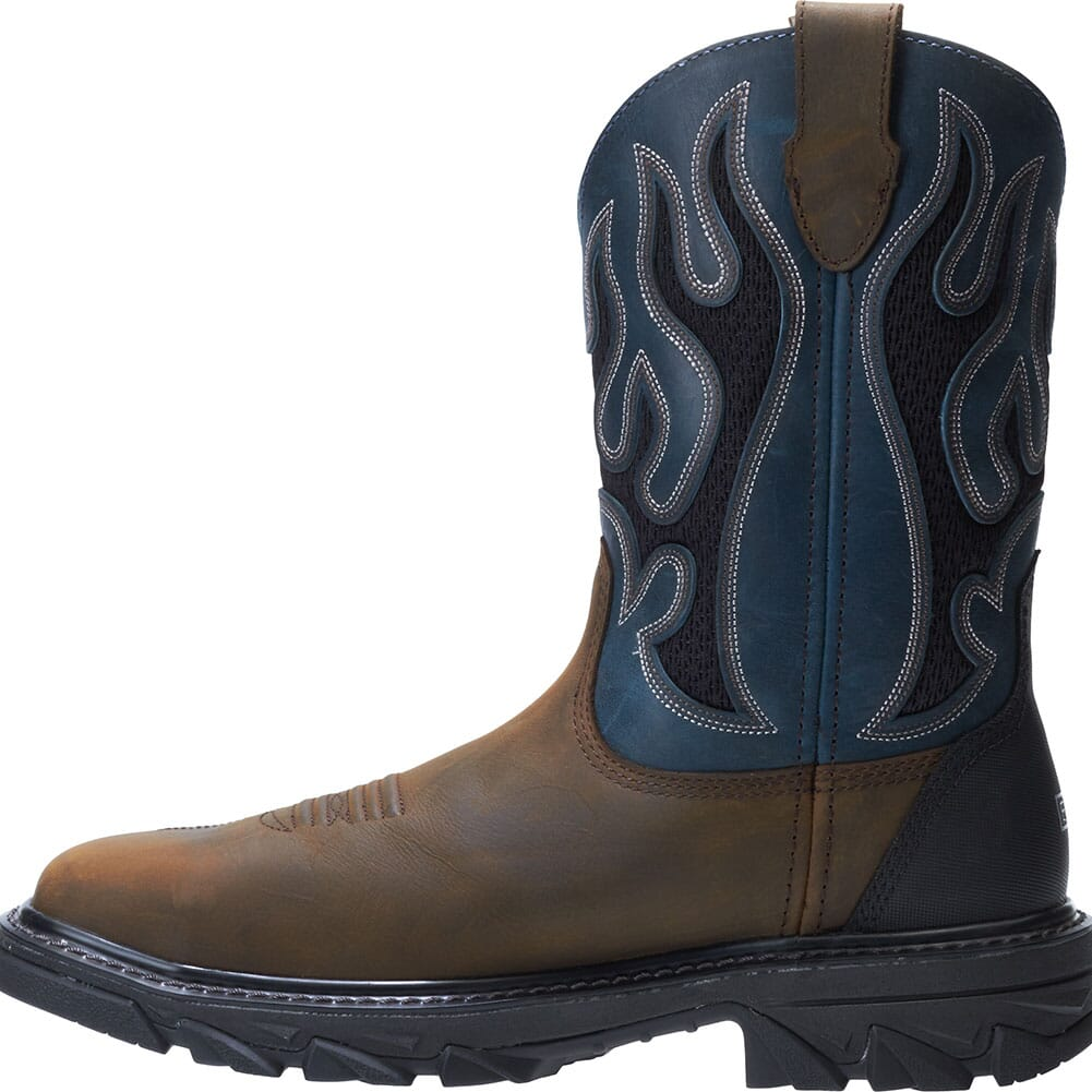 Wolverine Men's Ranch King Safety Boots - Brown/Blue