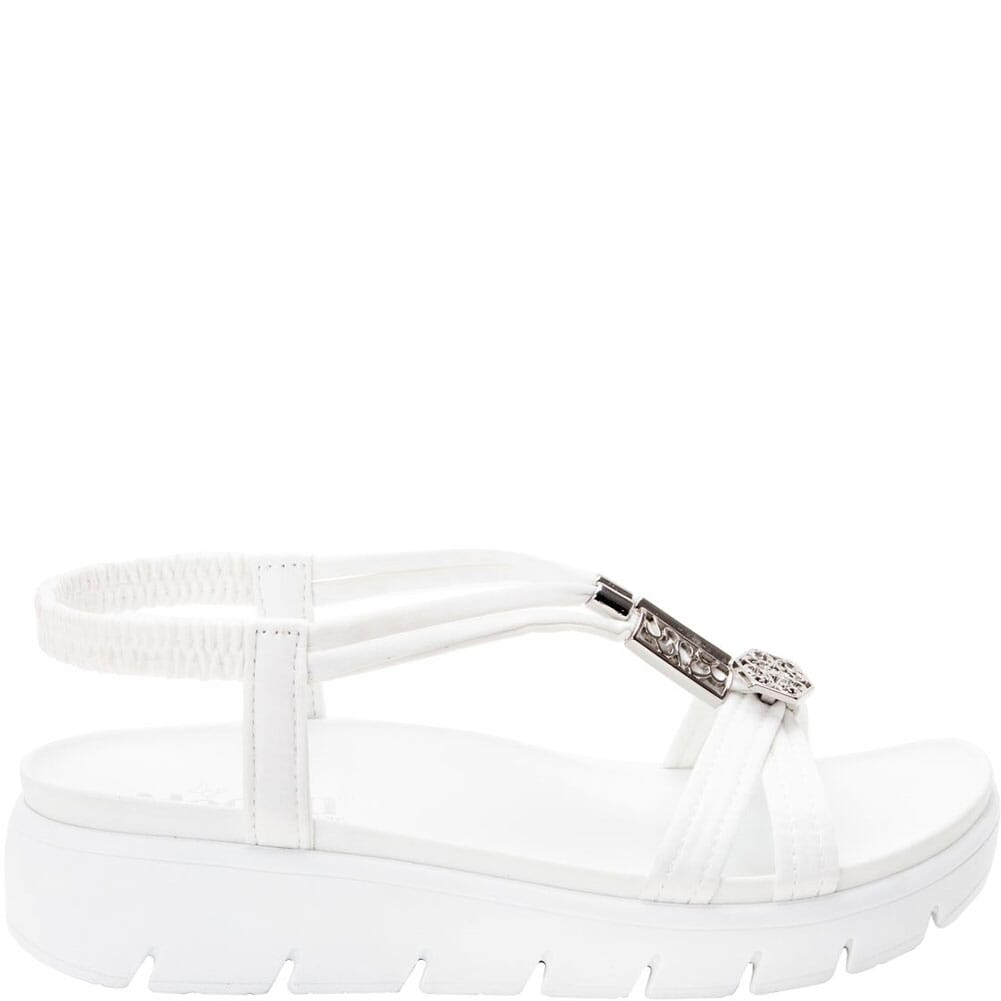 ROZ-109 Alegria Women's Roz Vegan Strappy Sandals - White