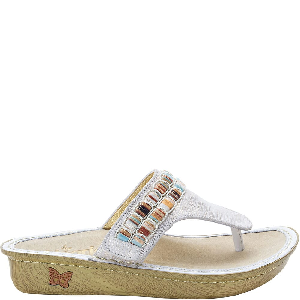 VAN-261 Alegria Women's Vanessa Thong Sandals - Gold
