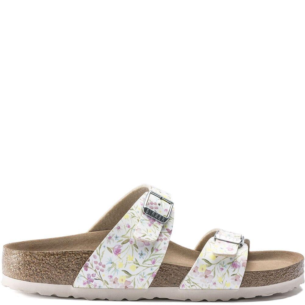 1018603 Birkenstock Women's Sydney Vegan Sandals - Watercolor Flower White