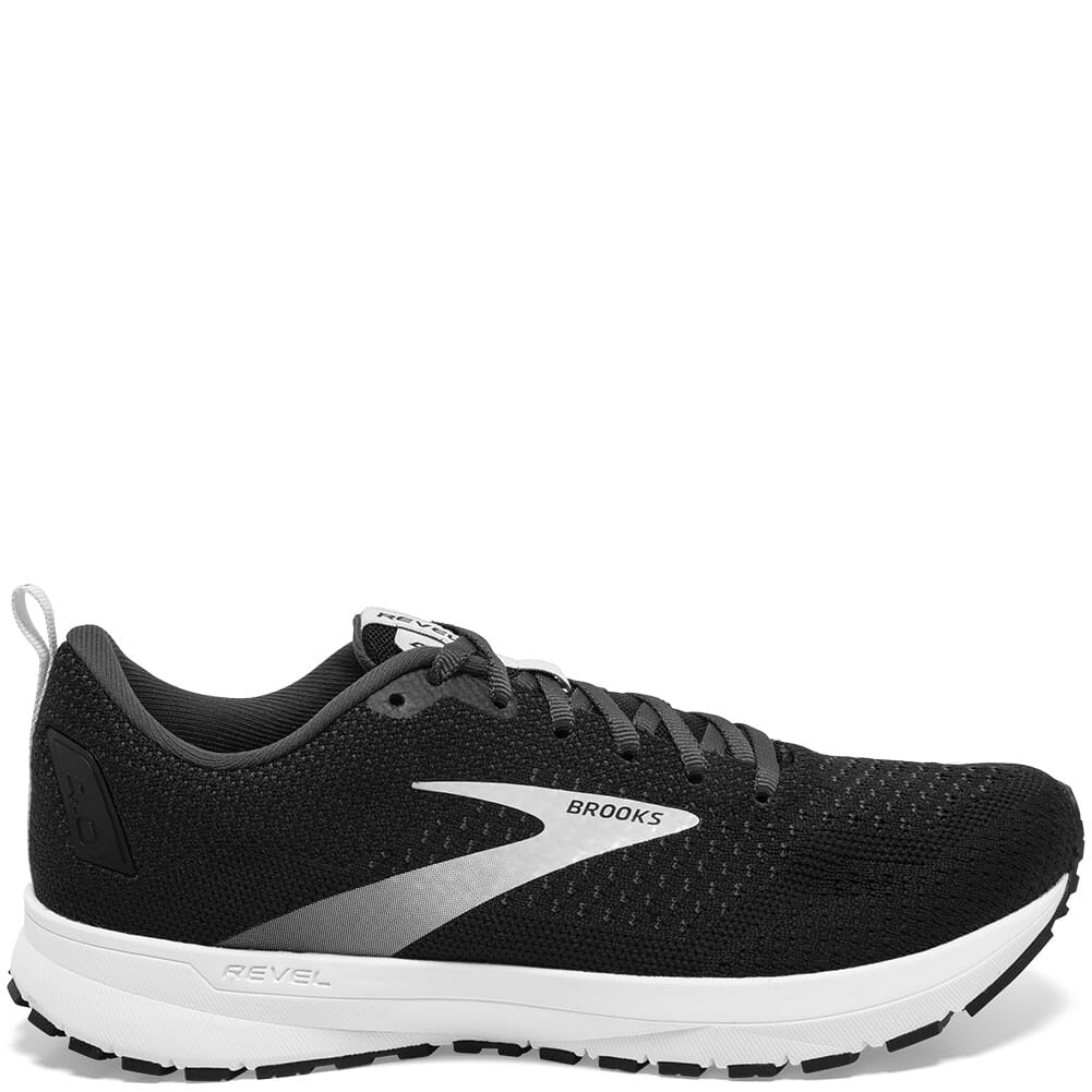 120337-063 Brooks Women's Revel 4 Running Shoes - Black/Oyster/Silver