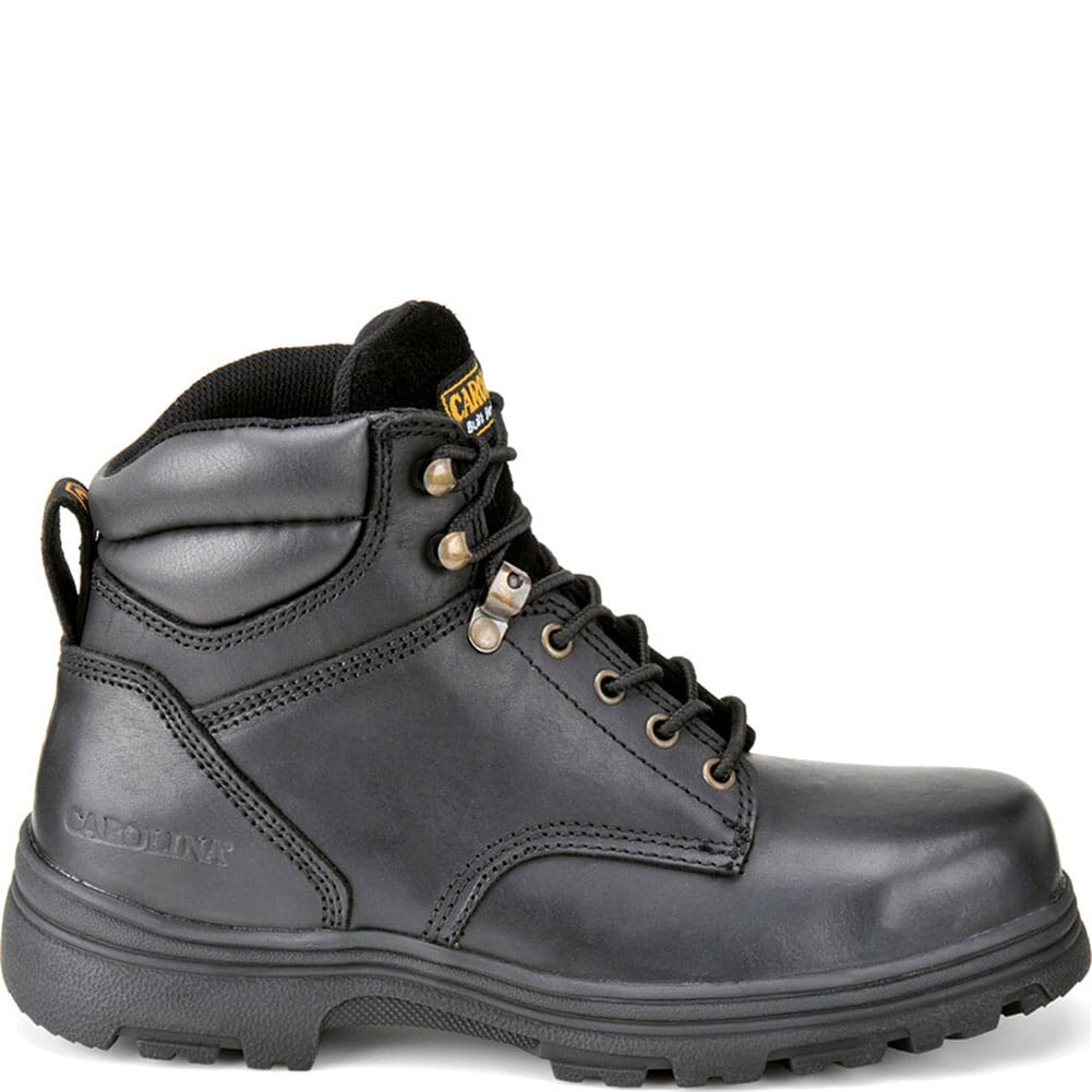 Carolina Men's EH Leather Safety Boots - Black