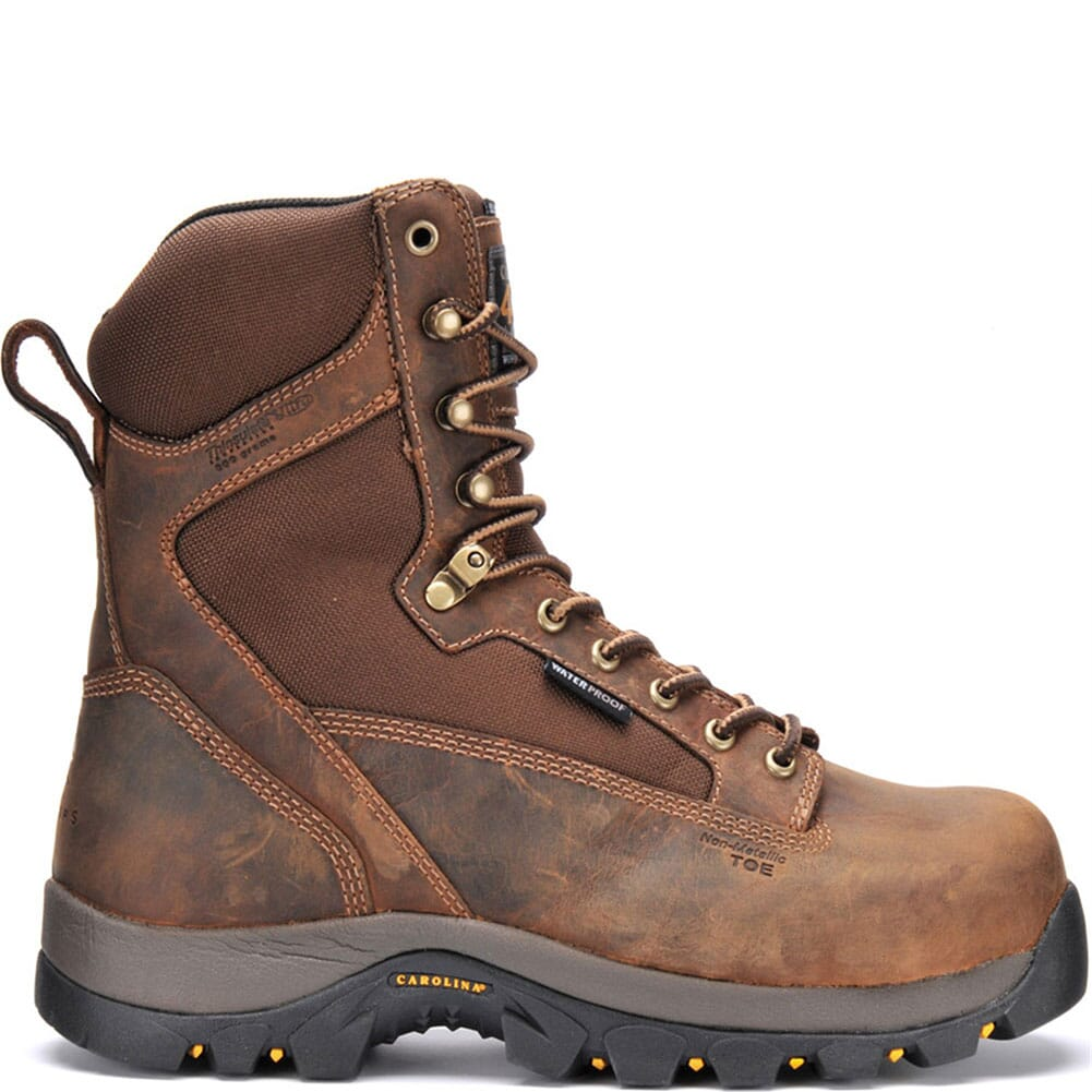 Carolina Men's WP 8IN INS Safety Boots - Brown