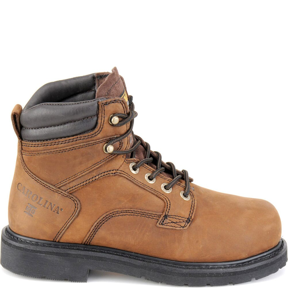 Carolina Men's EH Vibram Safety Boots - Brown