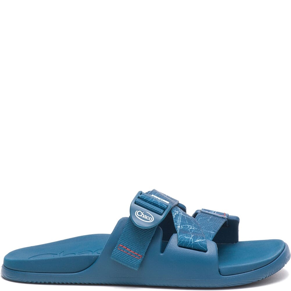 JCH108446 Chaco Women's Chillos Slides - Contour Navy