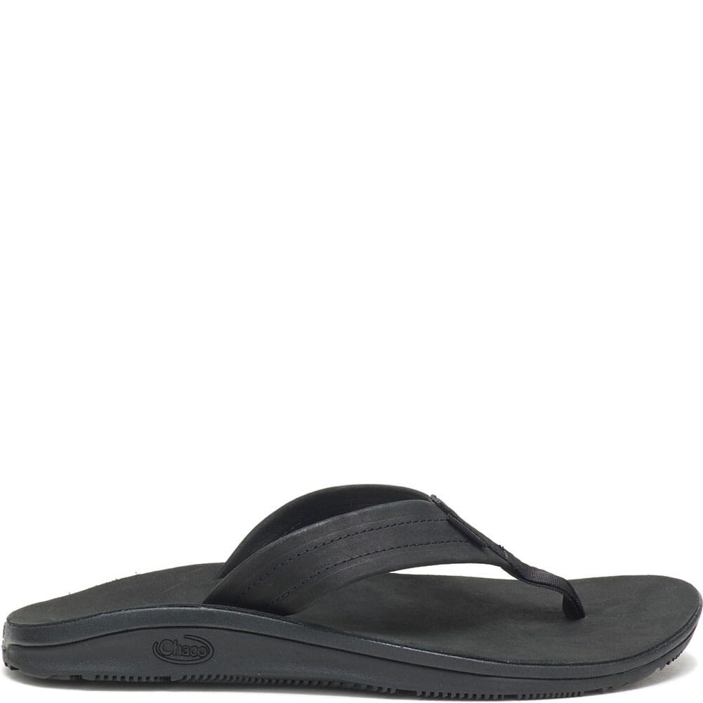 JCH108488 Chaco Women's Classic Leather Flip Flop - Black