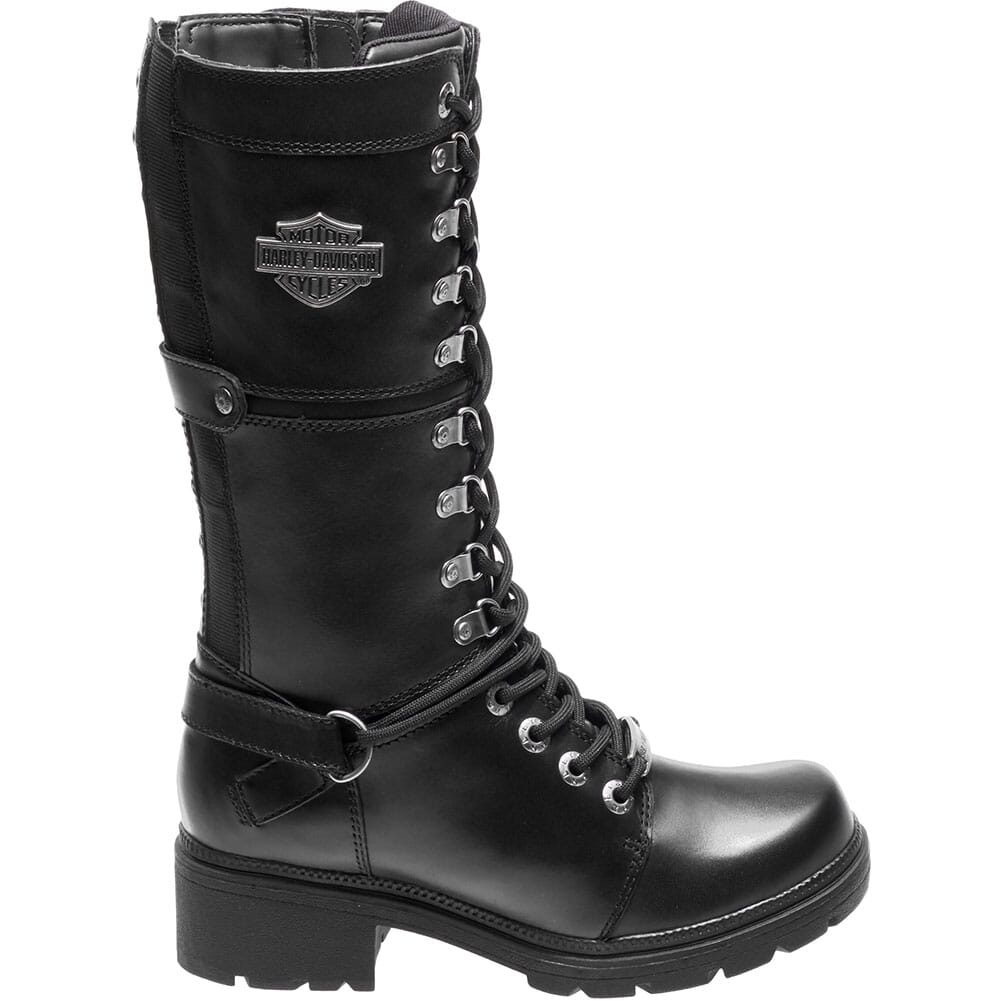 Harley Davidson Women's Harland Motorcycle Boots - Black