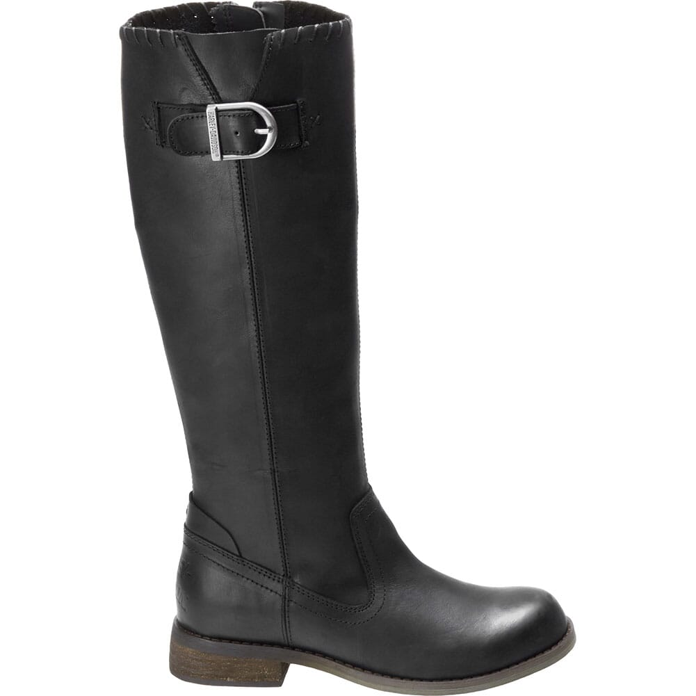 Harley Davidson Women's Keyser Zip Motorcycle Boots - Black