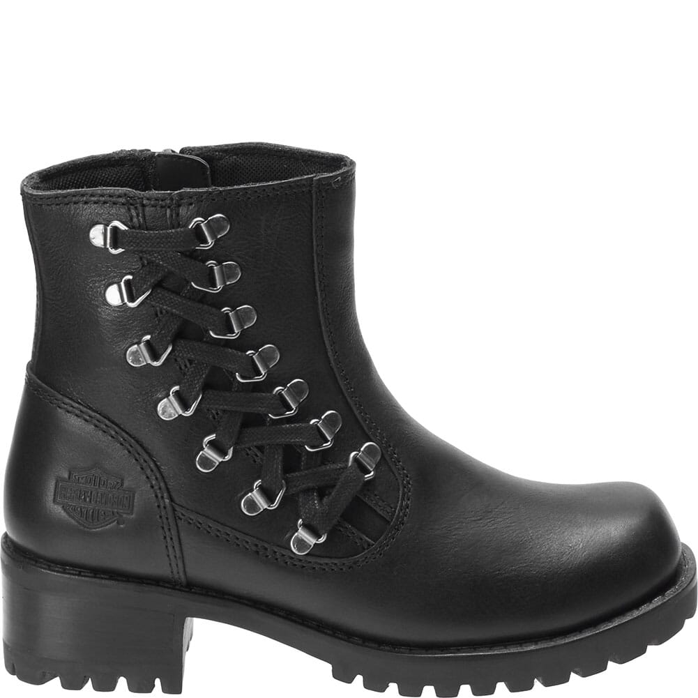 Harley Davidson Women's Hackley Motorcycle Boots - Black