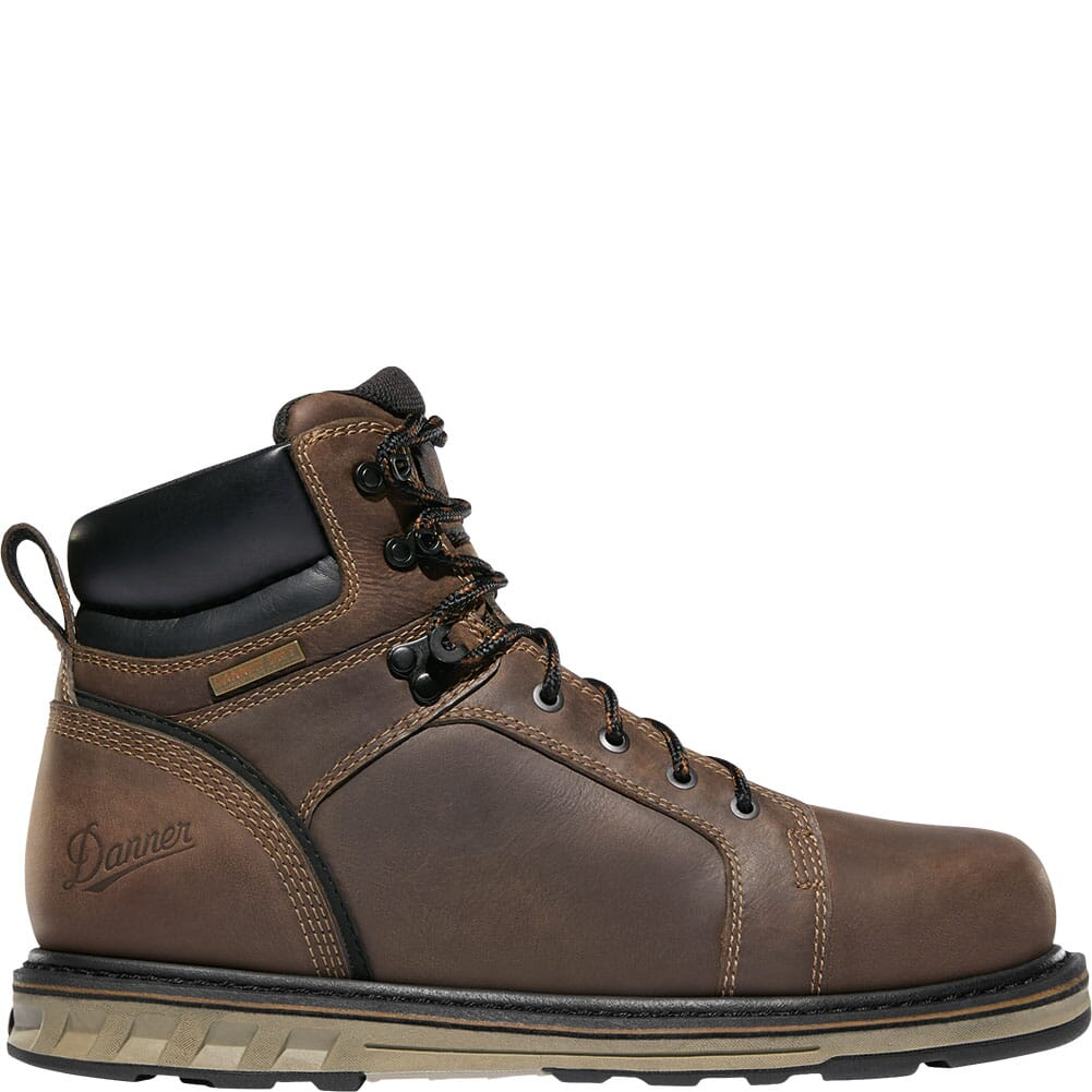 12538 Danner Men's Steel Yard WP Wedge Safety Boots - Brown
