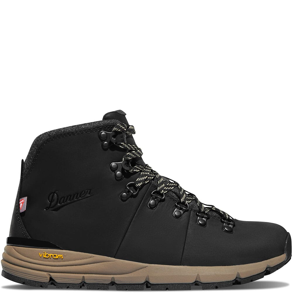 62147 Danner Women's Mountain 600 Insulated Hiking Boots - Jet Black/Taupe