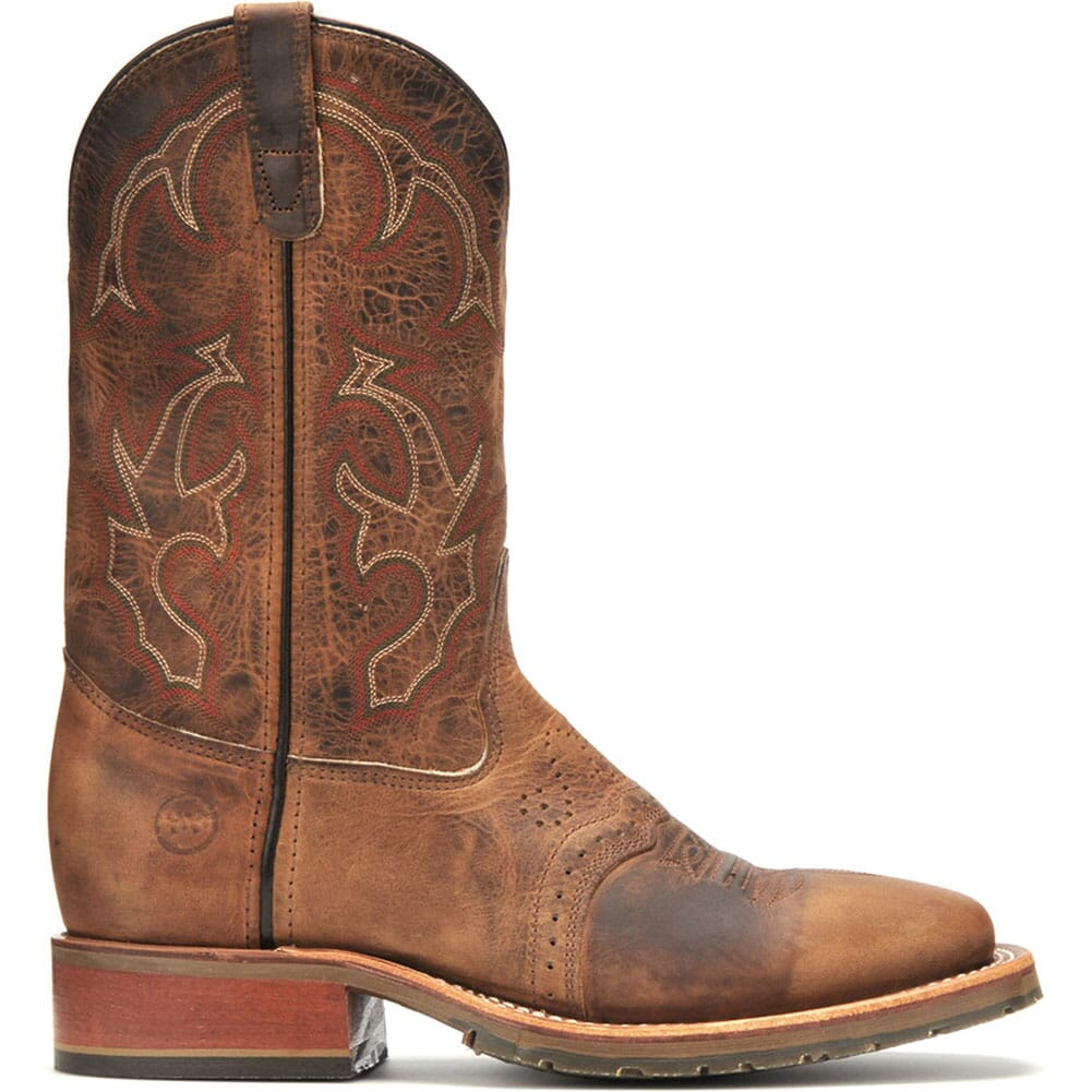 Double H Men's Square Toe Western Ropers - Brown