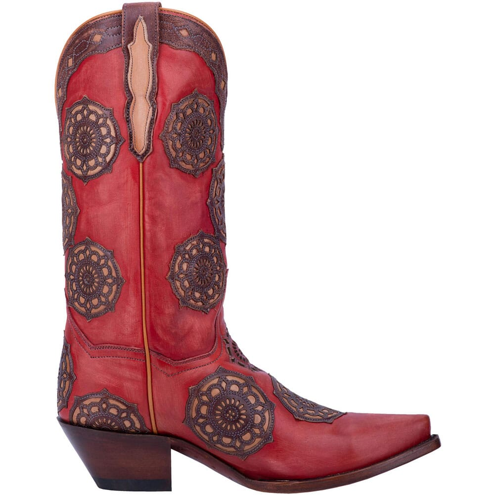 Dan Post Women's Circus Flower Western Boots - Red