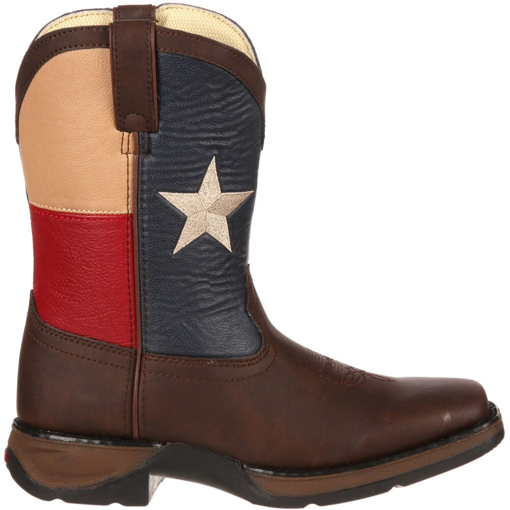 Lil' Durango Kids' Texas Flag Western Boots - Brown