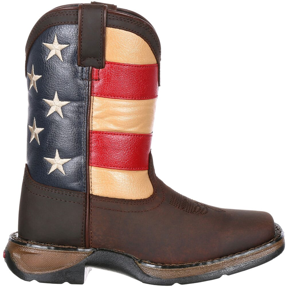Lil' Durango Big Kids' Flag Western Boots - Brown