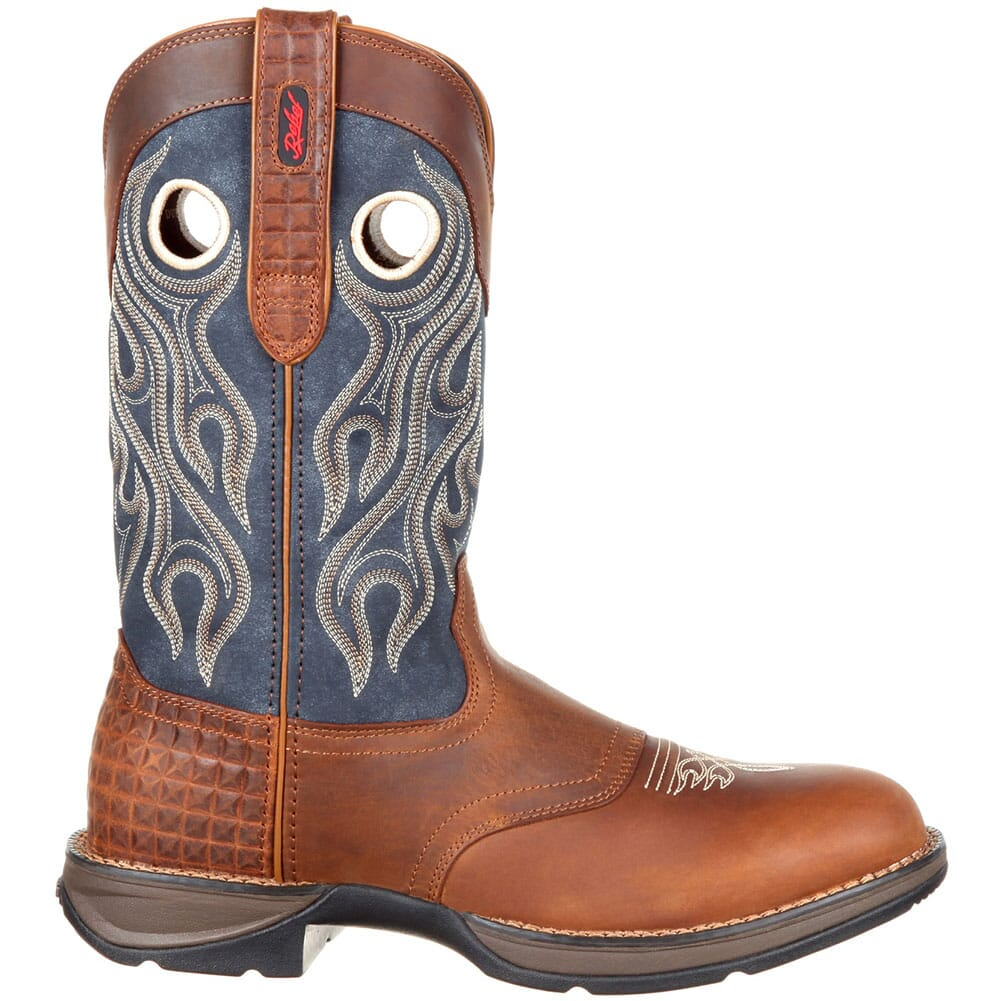 Durango Men's Saddle Western Boots - Brown/Blue Jean
