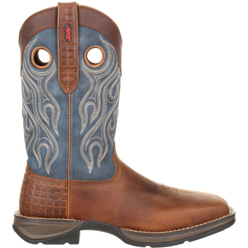 Durango Men's Pull-On Safety Boots - Dark Brown/ Denim Blue