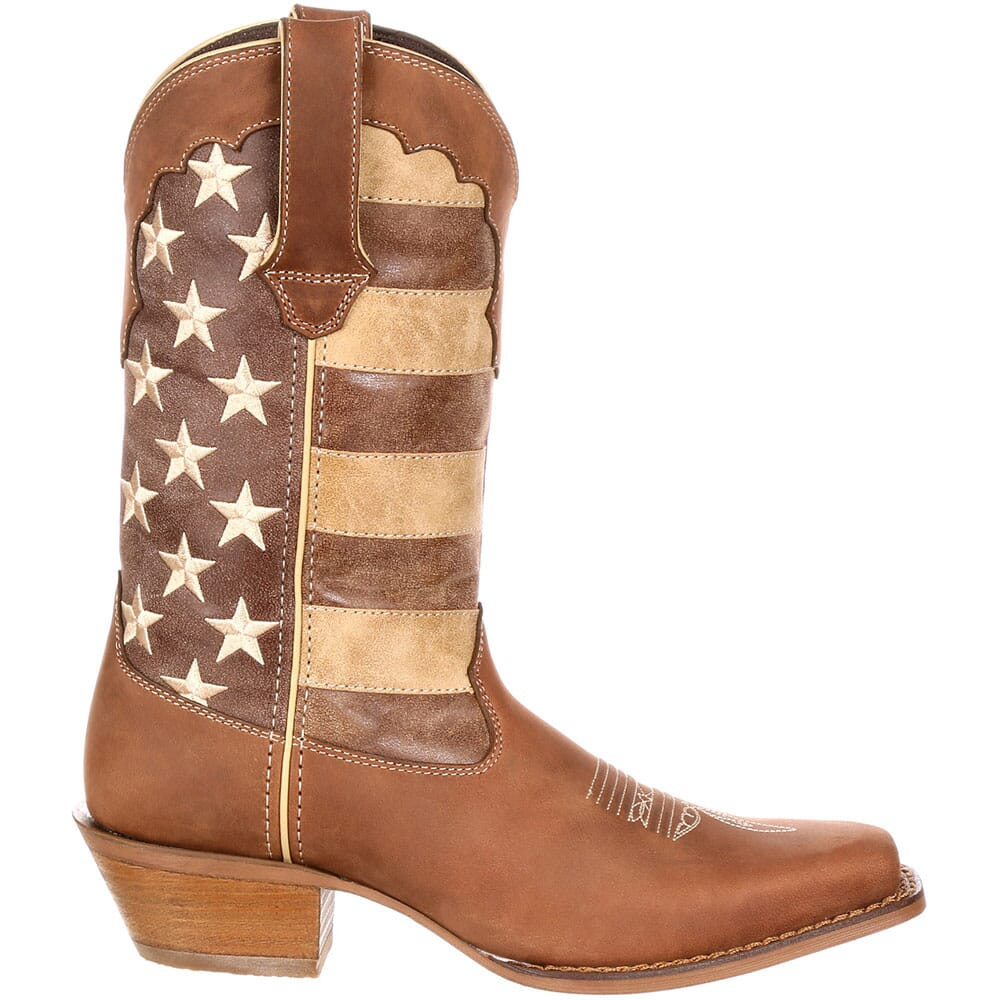Durango Women's Distressed Flag Boots - Brown/Union Flag
