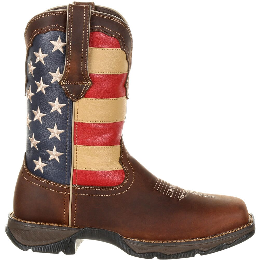 Durango Women's Lady Rebel Safety Boots -  Brown/Union Flag